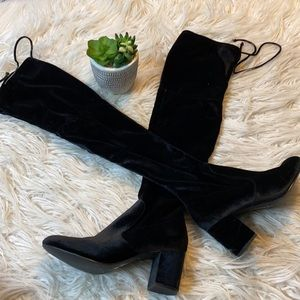 Charles David- Over the Knee Black Boots